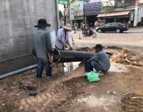 Thi công khoan ngầm qua đường tại miền Trung